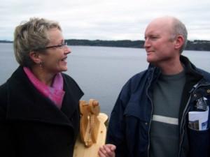 Møte mellom Liv Signe Navarsete og Tore Hufthammer etter bruåpninga 17. november 2007